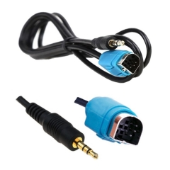 Car 3.5mm Alpine AUX Jack Cable KCE-237B NEW Part MP3 Smart Phone Gold Plug 3.5mm Alpine Antenna