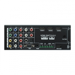 NK-H18 HDMI Audio Extractor with 8 Inputs to 1 HDMI Output with Optical / Coaxial 5.1 Channel