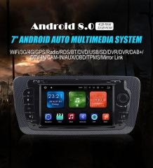 NEW 7'' Android 8.0.1 4GB+32GB 1024*600 HD Capacitive Touch Screen Car Radio for Seat IBIZA