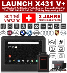 Die Neueste Version LAUNCH X431 V + (Pro3) OBD2 EOBD Diagnostic Tool Diagnostic Tools WiFi Bluetooth Android Full System OBD2 Scanner Scanning Tool an