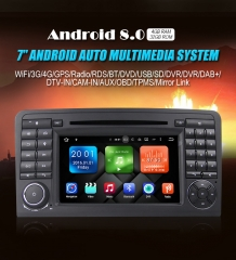 2din Android 8.0 Octa-core 4GB RAM 32GB ROM Car DVD For Mercedes Benz ML/GL-Class W164  X164