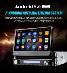 7'' 1 Din Android 8.0 4G RAM Octa 8 Core Car DVD / Multimedia Player For Universal GPS Navigation Stereo Radio WIFI MP3 Bluetooth USB SWC