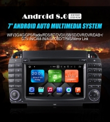 2din Android 8.0 Octa-core 4GB RAM 32GB Car DVD / Multimedia For Benz W220 W215