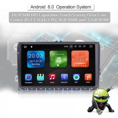 9'' Android 8.0.1 Octa-core 4GB RAM 32GB Flash Autoradio / Multimedia Für VW Magotan,Passat,Jetta,Golf,Tiguan,Touran,Seat,Skoda