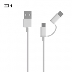 Xiaomi ZMI 2-in-1 USB-C and Micro-USB combo cable data cable charger cable, 30 cm 100 cm