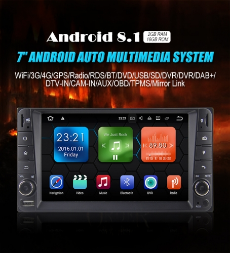 Android 8.1 Quad-core 2GB RAM 16GB flash Autoradio Player Radio für Toyota Corolla