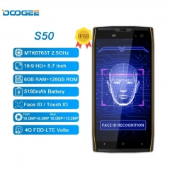 DOOGEE S50 Smartphone MTK6763T 5.7 inches 6GB + 128GB
