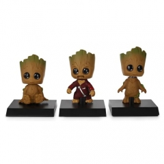 Galaxy Guard cute head shaking tree elf model 3 pieces / set