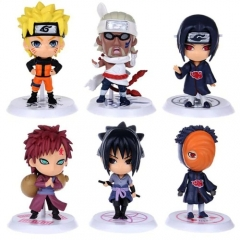 Naruto Animation Action Diagram PVC ABS Model - 6pcs / set