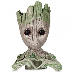 Love tree man flowers pot doll model desk ornament gift toy