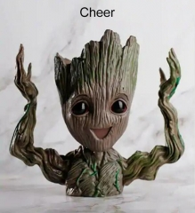 Cheer tree man flowers pot doll model desk ornament gift toy