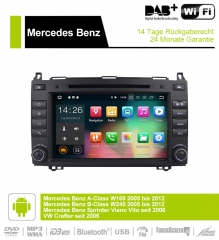 8 inch Android 9.0 Car Radio / Multimedia 2GB RAM 16GB ROM For Mercedes BENZ A Class W169, B Class W245, Sprinter Viano Vito and VW Crafter
