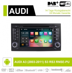 7 Inch Android 9.0 Car Radio 4GB RAM 32GB ROM For Audi A4 / S4 GPS Navi WIFI USB BT