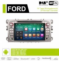 7 Inch Android 9.0 Car Radio / Multimedia 2GB RAM 16GB ROM For Ford Focus Galaxy Mondeo S-Max C-Max