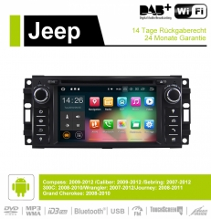 6.2 Inch Android 9.0 Car Radio / Multimedia 2GB RAM 16GB ROM For Jeep Wrangler Compass Caliber Sebring 300C Grand Cherokee Journey
