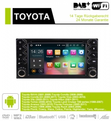6.2 Inch Android 9.0 Car Radio / Multimedia 4GB RAM 32GB ROM For Toyota Corolla EX RAV4 Vios Vitz Terio Prado