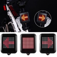 USB Recharging Intelligent Bicycle light Taillight Led Smart Bike Direction Indicator Rear Light