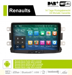 8 Inch Android 9.0 O Car Radio / Multimedia 4GB RAM 32GB ROM For Renaults Dacia, Duster, Logan, Sandero, Dokker, Lodgy