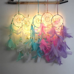 Dream Catcher LED Lighting Feather Bedroom Romantic Hanging Decoration