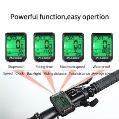 INBIKE Waterproof Bicycle Computer Wireless And Wired MTB Bike Cycling Odometer Stopwatch Speedometer Clock LED Digital Rate