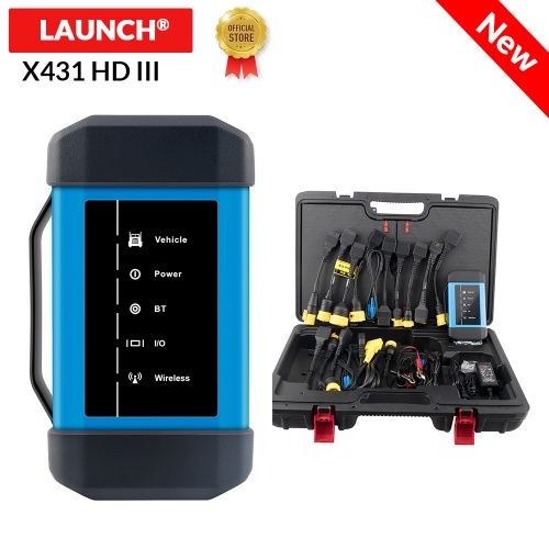 Launch X431 HD III 24V Truck full system diagnostic support work with X431 V+ X431 PRO3 PADII Multi-language update online