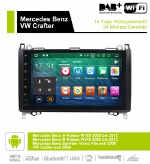 9 inch Android 9.0 Car Radio / Multimedia 2GB RAM 16GB ROM For Mercedes BENZ A Class W169, B Class W245, Sprinter Viano Vito and VW Crafter