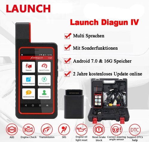 NEW Launch X431 Diagun IV Car Full System Diagnostic Tool Support Bluetooth / Wifi with 2 Year Free Update