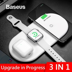 Baseus Wireless Charger Fast Wireless Full load 3 in 1 Charging Pad For iPhone X XS MAX XR 8 airpods 2019 Apple Watch 4 3 2