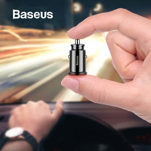 Baseus Mini USB Car Charger For Mobile Phone Tablet GPS 3.1A Fast Charger Car Charger Dual USB Car