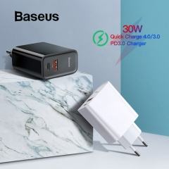 Baseus Quick Charge USB Charger Type C QC 4.0 3.0 Charger 18W PD 3.0 Fast Charger