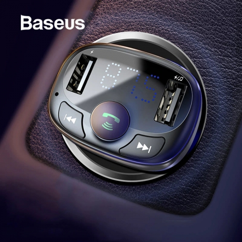 Baseus Car Charger Cell Phone Handsfree FM Transmitter Bluetooth Car Kit