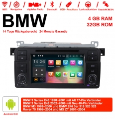 7 Inch Android 9.0 Car Radio 4GB RAM 32GB ROM For BMW 3 Series E46 BMW M3 Rover 75