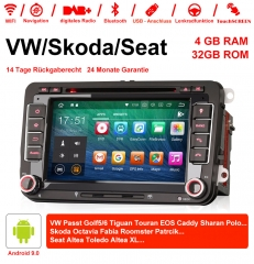 7 Inch 2 Din Android 9.0 Car Radio / Multimedia 4GB RAM 32GB ROM  Für VW GOLF JETTA POLO TOURAN PASSAT B6 mit GPS stereo radio usb WIFI