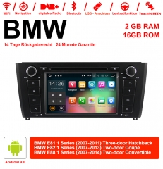 7 Inch Android 9.0 Car Radio / Multimedia 2GB RAM 16GB ROM For BMW E81 E82 E88