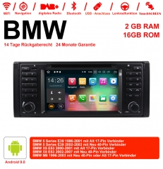 7 inch Android 9.0 Car Radio / Multimedia 2GB RAM 16GB ROM For BMW 5 series E39 X5 E53 M5