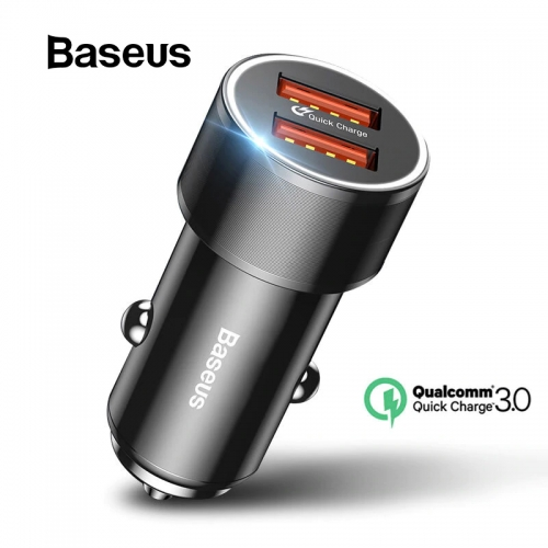 Baseus 36W Dual USB Quick Charge QC 3.0 Car Charger USB Type-C PD Fast Charger