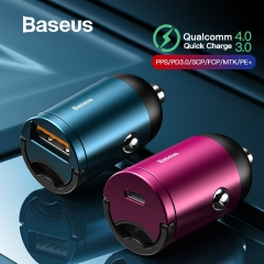 Baseus Quick Charge 4.0 3.0 USB C Car Charger For Huawei P30 Xiaomi Mi9 Mobile Phone QC4.0 QC3.0 Type C PD 3.0 Fast Car Charging
