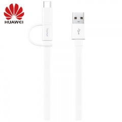 Original Huawei Honor AP55 Micro USB & Type C 2 In 1 Cable Charging Data Cord for Huawei Mate 9 10 20 Pro X P10 P20 P30 Lite