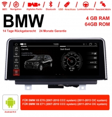 10.25 Inch Android 9.0 Car Radio / Multimedia 4GB RAM 64GB ROM For X5 E70 (2007-2013) BMW X6 E71 (2007-2014)