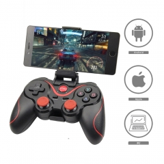 Terios T3 X3 Wireless Joystick Gamepad Game Controller bluetooth BT3.0 Joystick For Cell Phone Tablet TV Box Holder