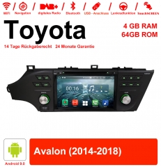 8 inch Android 9.0 car radio / multimedia 4GB RAM 64GB ROM for Toyota Avalon 2014-2018 with WiFi NAVI Bluetooth USB