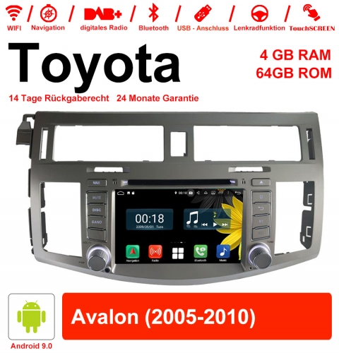 8 inch Android 9.0 car radio / multimedia 4GB RAM 64GB ROM for Toyota Avalon 2005-2010 with WiFi NAVI Bluetooth USB