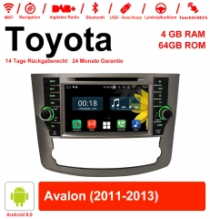 8 inch Android 9.0 car radio / multimedia 4GB RAM 64GB ROM for Toyota Avalon 2011-2013 with WiFi NAVI Bluetooth USB