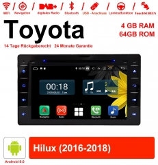 8 inch Android 9.0 car radio / multimedia 4GB RAM 64GB ROM for Toyota Hilux 2016-2018 with WiFi NAVI Bluetooth USB