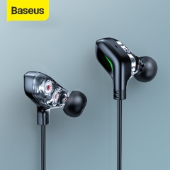 Baseus GAMO C18 Type C Gaming Earphone with RGB Light Earhook Wired In-ear Bass Stereo Earphones for PS4 PC Computer Gamer
