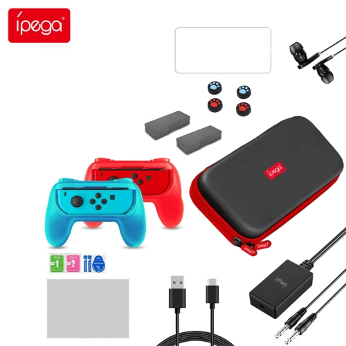 ipega PG-9182 18 in 1 Joy-con game card storage bag handle handle cover 3D rocker cover with headphones suitable for Nintendo Switch