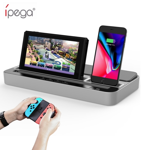 ipega PG-9119 charging station for Nintendo Switch multi-purpose charging socket with audio speaker function