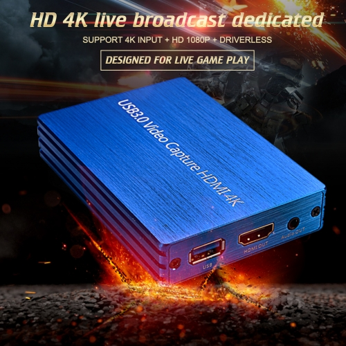 USB3.0 video capture HDMI with ring out 4k