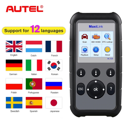 AUTEL MaxiLink ML629 Diagnostic Tool OBD2 Diagnostic Scanner Automotive Tools OBDII Auto Code Reader