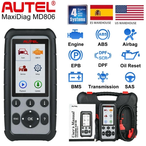 Autel MaxiDiag MD806 OBD2 Diagnostic Tool Code Reader Scanner ABS SRS EPB DPF